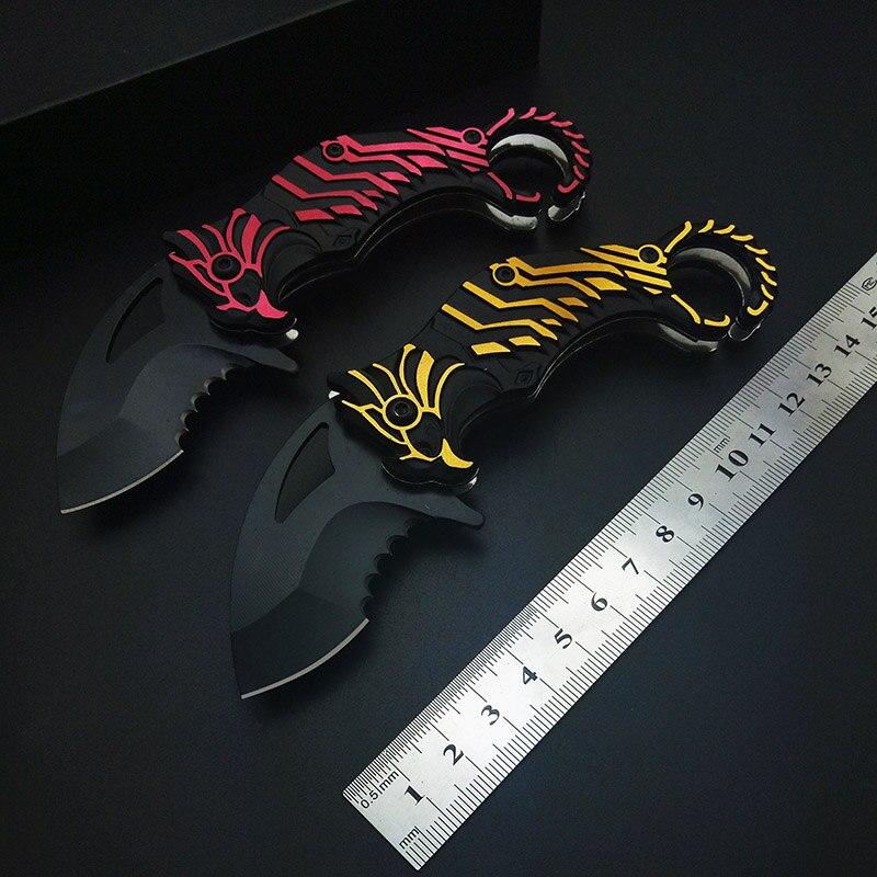 4 Styles Aigle Yeux Karambits Tactique couteau 440 inoxydable Griffe Lame couverture Poignée de Poche D'outil de Survie En Plein Air Cadeau EDC
