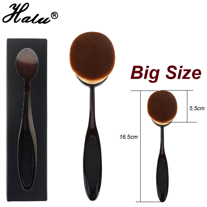Big Size Power Makeup Brush Beauty Oval Cream Puff Cosmetic Toothbrush-shaped foundation brush Blend Tools pincel for maquiagem candy color calabash shaped cosmetic makeup cotton pads sponge puff pink