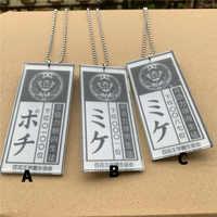 Kakegurui Jabami Yumeko Saotome Acryl Karte Halskette Anhänger Cosplay