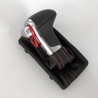 8KD 713 139 B LHD Chrome Gear Shift Knob Black Leather Gaiter Boot AT LHD Only For Audi A4 B8 A5 Q5