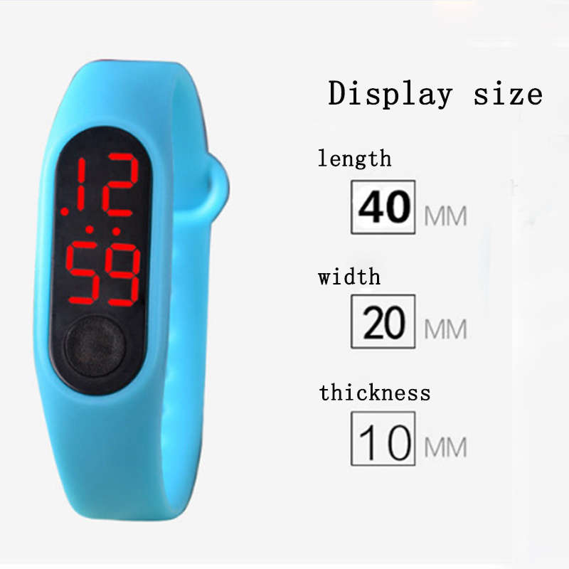Candy color silicone electronic watch boy girl LED digital watch men and women outdoor sports date clock bracelet student giftCandy color silicone electronic watch boy girl LED digital watch men and women outdoor sports date clock bracelet student gift