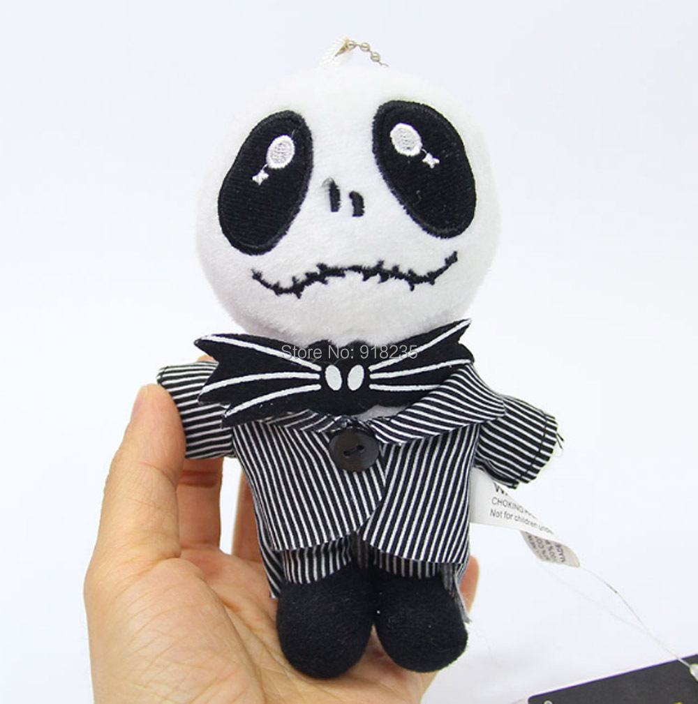 Free Shipping 14CM Nightmare Before Christmas Jack Plush Dolls With ...