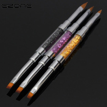 EZONE Crystal Carved Colorful Paint Brush Cute Color Metal For Oil Watercolor Painting Art Tools School Supply