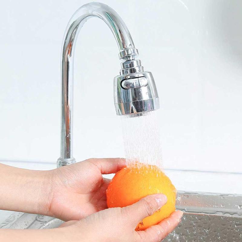 360 Rotating Splash Faucet Saving Tap Aerator Water Bubbler Swivel Head Tap Diffuser Nozzle / Connector / Tape