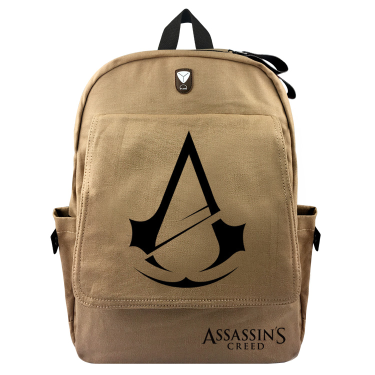 Assassin's Creed Backpack For Teenagers Children School Bags Boys Assassins Creed School Backpacks Men Daily Canvas Travel Bag roblox game casual backpack for teenagers kids boys children student school bags travel shoulder bag unisex laptop bags