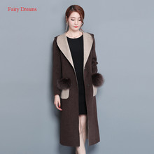 Fairy Dreams Women's Trench Winter Coat With Pockects Long Windbreaker 2017 New Style Overcoat Korean Fashion Plus Size Clothing