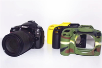 Soft Silicone Case Camera Protective Body Bag For Nikon D90 Rubber Cover Battery Openning D90 Camera