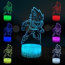 3D Lamp Drgon Z Ball Cartoon Saiyan Home Cartoon Decorative Night Light USB LED 3D Children's Gift Party Atmosphere Table Lava flashing glitter lava lamp atmosphere led changable night light