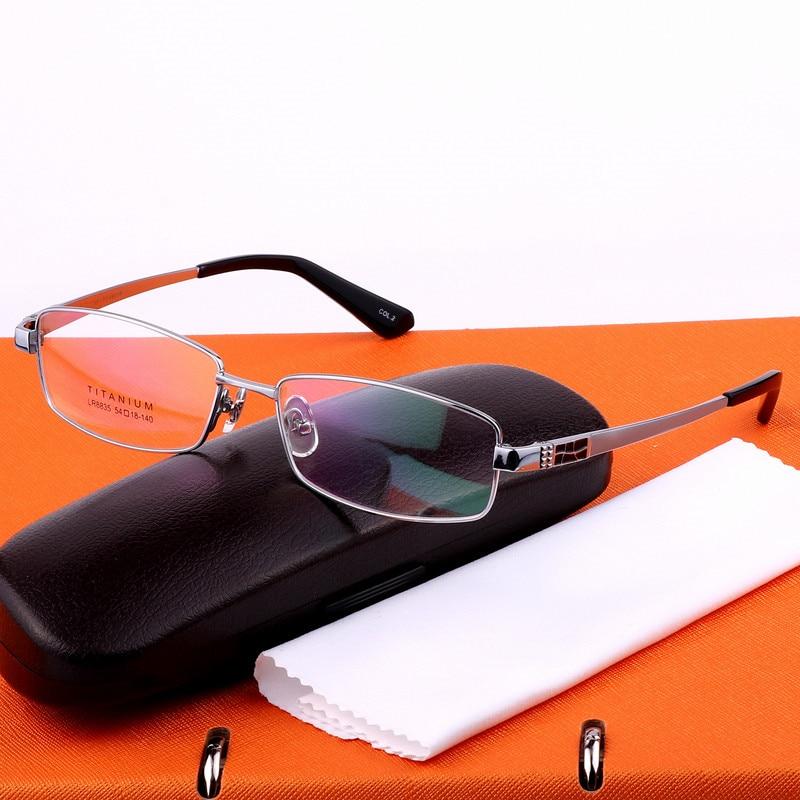 Ren titanium glasögonramar män optiska glasögon ram märke - Kläder tillbehör - Foto 2