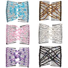 Womans Fashion Magic Comb Girls Women Hair Clip Elastic Double Beaded Colorful Shower Christmas Gifts