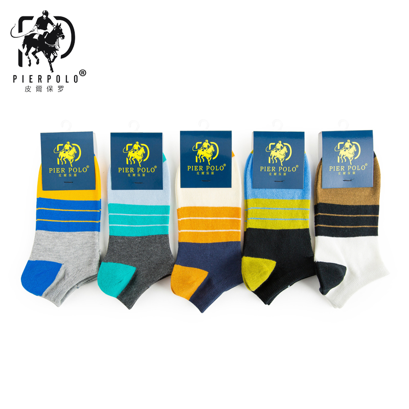 PIERPOLO Brand Socks 5Pairs/lot Fashion Cotton Mens Socks Summer Short Happy Socks For Men calcetines