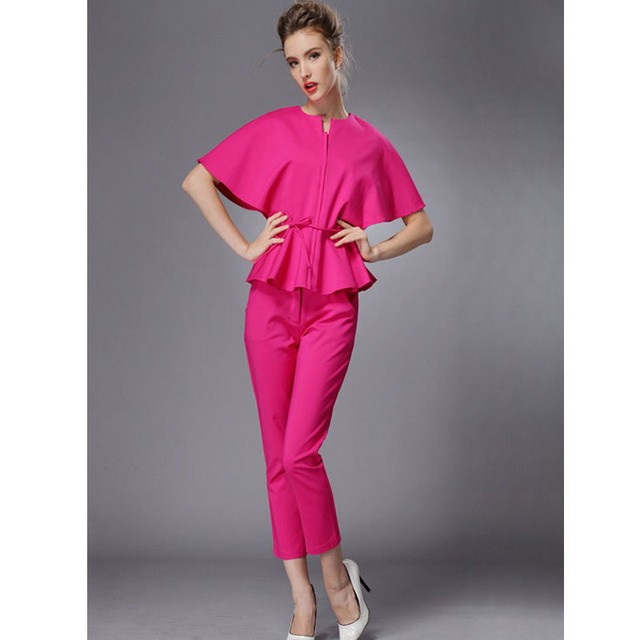 Aliexpress.com : Buy Red Pants Suits for Women New 2017 Fashion ...