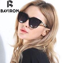 BAVIRON Щит Cat Eye Солнцезащитные Очки Женщины Поляризованные HD Объектив Очки Горячие Продажа Рамка Вставка Жемчуг Feminino Солнцезащитные Очки UV400 8508
