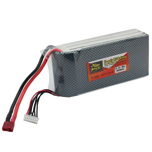 ZOP Power Li polymer Lipo Battery 22 2V 8000mAh 6S 35C T Plug For RC Helicopter