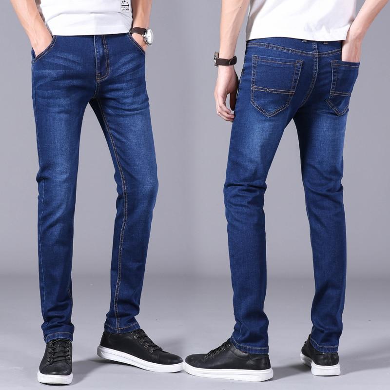 Men's Jeans Business Casual Stretch Slim Denim Jeans - halalcitymart
