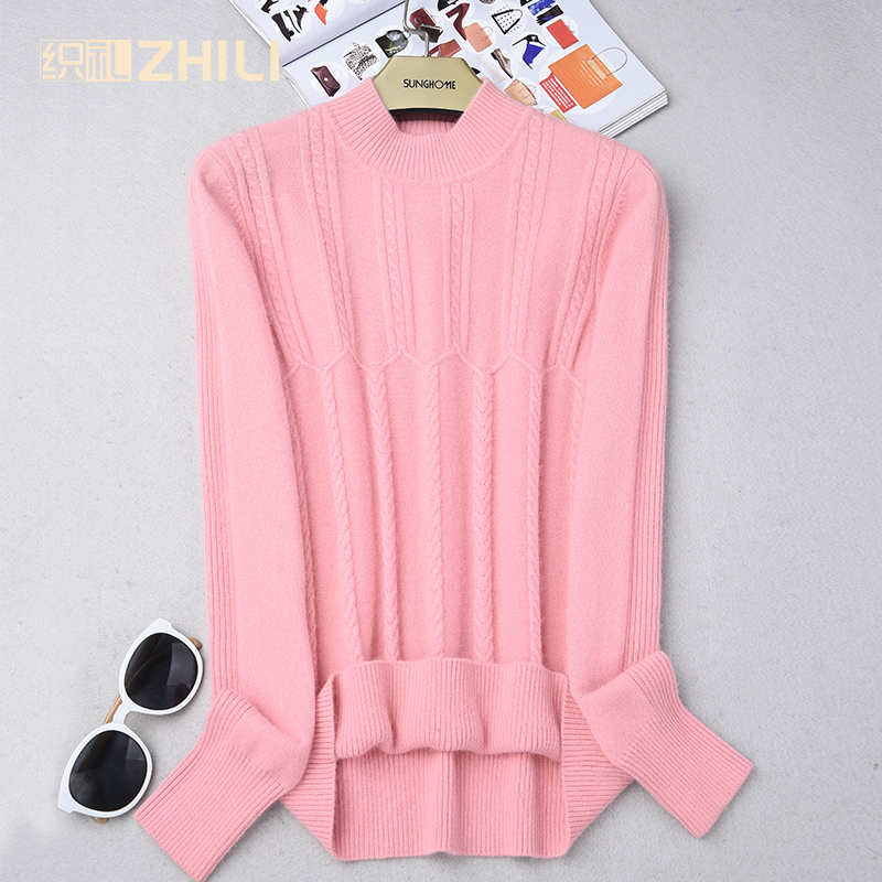 2017 autumn and winter cashmere sweater female short design o-neck solid color pullover sweater cashmere basic knitted shirt