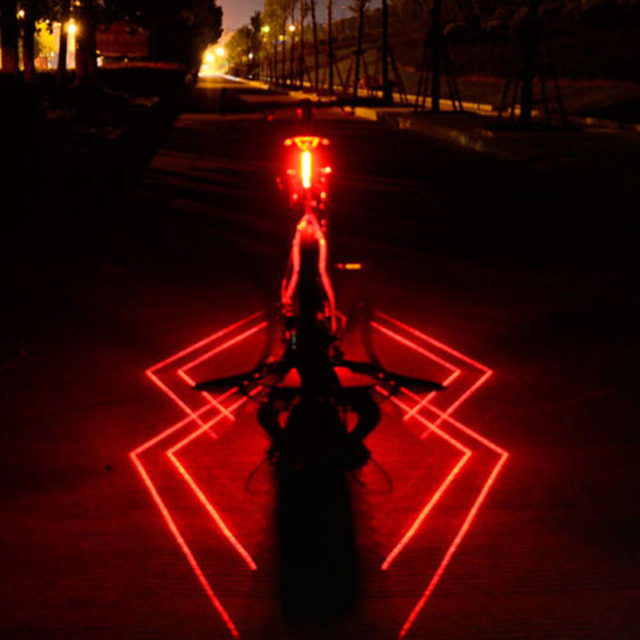 USB נטענת קדמי אחורי אופניים אור עכביש לייזר LED אופני טאיליט רכיבה על קסדת אור מנורת הר אופניים אבזרים