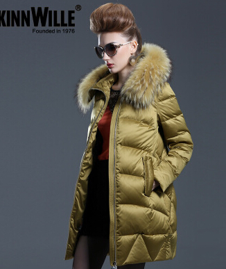 New Arrival Hotsale 2015 Fashion Winter Warm Large Fur Collar Down Coat Medium-Long Demale Thickening Outerwear new arrival 2015 hotsale design female medium long down coat thickening large fur collar women s brand outerwear high quality