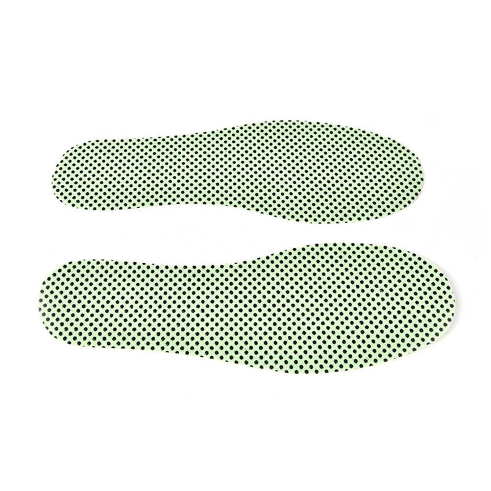 1 par de plantillas naturales de autocalentamiento turmalina, plantillas de autocalentamiento, suelas de invierno para calzado, plantillas de reflexología cálidas calentadas