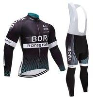 2017 Winter Team BORA Pro Cycling Jersey Pants Set Ropa Ciclismo MTB Thermal Fleece Windproof Cycling