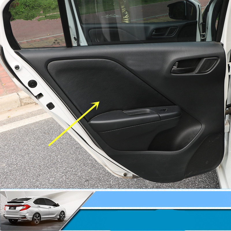 4pcsset High Quality Pu Leather Interior Door Panel Protective
