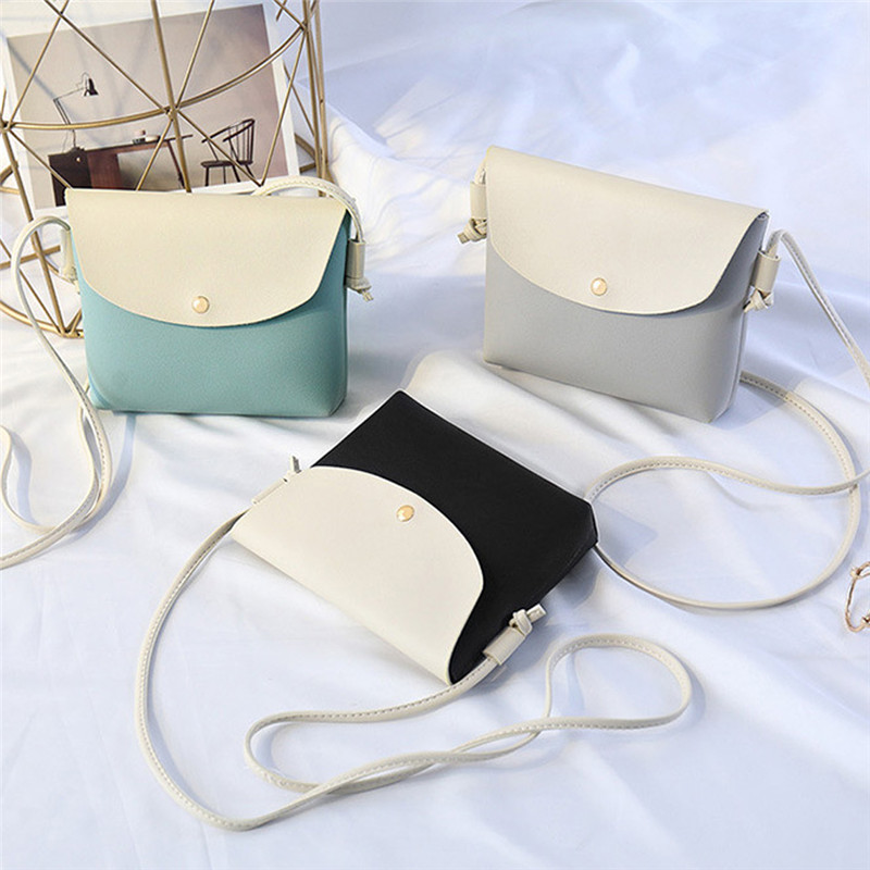 women's Shoulder Messenger Bag Mobile Phone Bag PU Leather Female Messenger Bag Student Handbag 2019 New