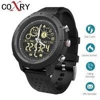 COXRY Outdoor Sport Watch Men Smartwatch Dual Display Analog Digital Watch Smart Pedometer Stopwatch Electronic Wrist Watches