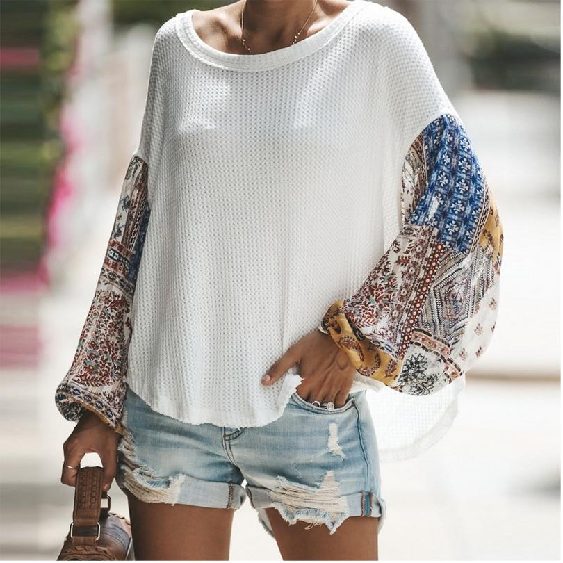Frauen Shirts Herbst Lässig Eleganten Oansatz Bluse Frauen Top Camisa Feminina Laterne Hülse Weiß Damen Blusen Shirts