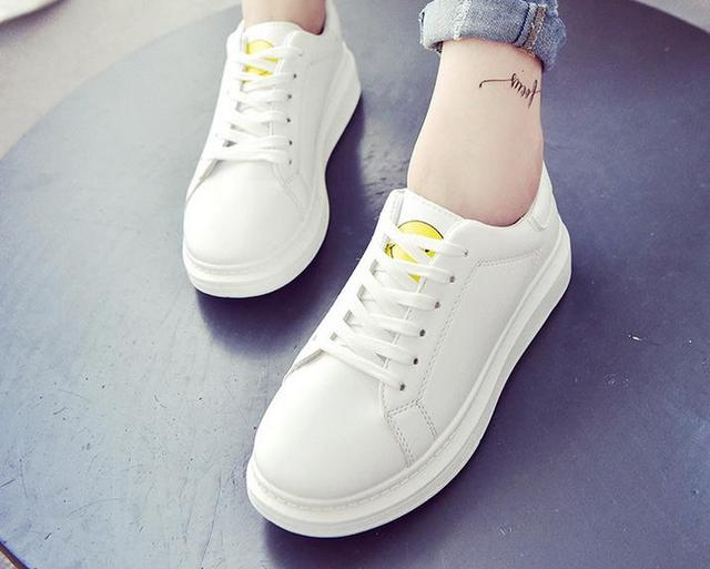 5..White Women's dress shoes flat soled shoes tie Le Fu white women shoes casual flat shoes