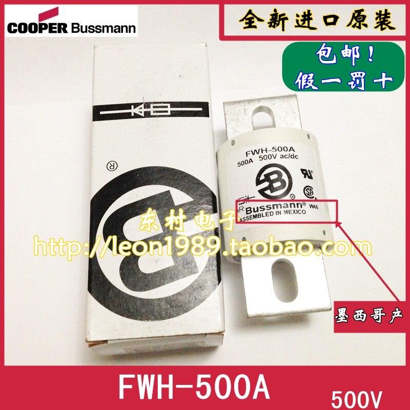 US importe Bussmann fusibles FWH-500A 500 V AC/DC FWH-500A fusible