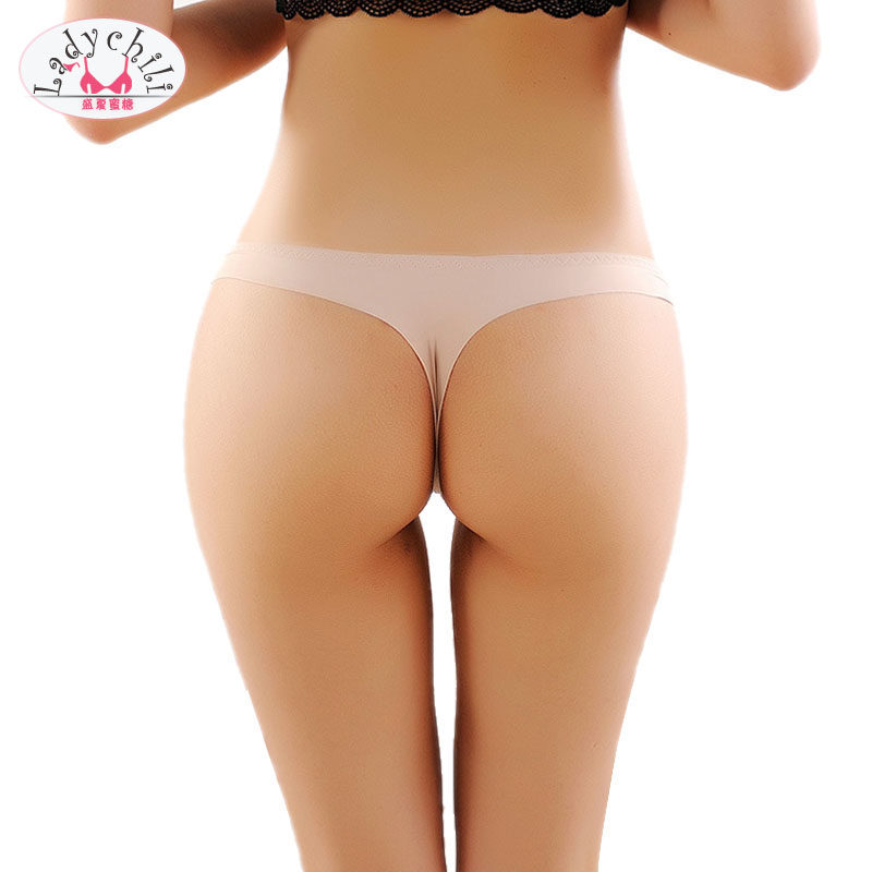 2pcs pack Invisible Underwear Thong Panties Nylon Spandex Gas Crotch Thong  Underwear Thongs And G de6455916