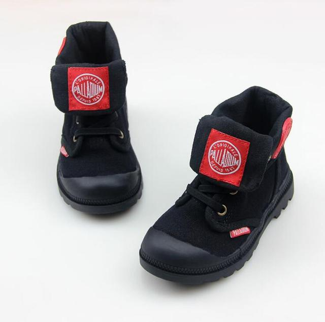 2019 autumn new kids sneakers high cildren's canvas shoes boys and girls child baby boots casual military boots size21-37 1
