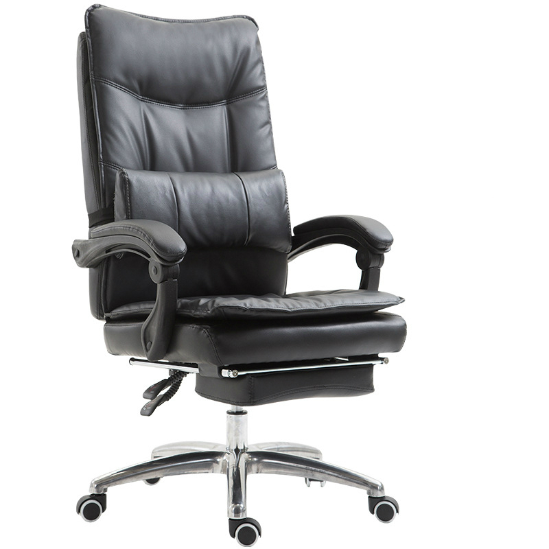 Soft Comfortable Fashion Computer Chair Swivel Chair with Footrest Lift Office Chair Reclining Household Study Room Chair Steady