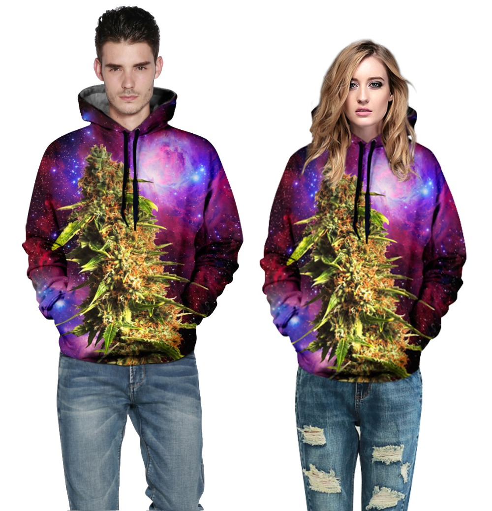 Men Womens Winter Space 3D Printed Harajuku Hoodies Sweatshirt Hooded Casual Polluver QL-007