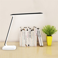 LAIDEYI 6W USB Rechargeable LED Touch Table Desk Lamp Dimmable Foldable Eye Protection Reading Study LED Desk Light Three Levels