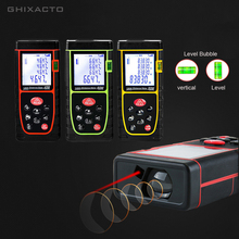 GHIXACTO Laser Distance Meter 40m 60m 80m 100m Laser Range Finder Rangefinder Metro Trena Laser Tape Measure Ruler Roulette Tool laser distance meter 80m 100m rangefinder trena laser tape range finder build measure device ruler test tool