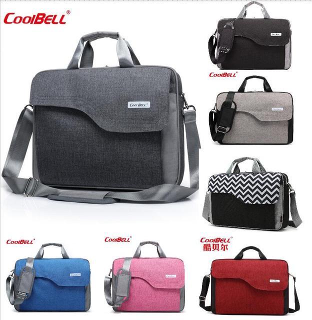 Coolbell Extra Large Capacity 15 Inch 17 Computer Bag Ripple Shoulder Handbag Free Shipping