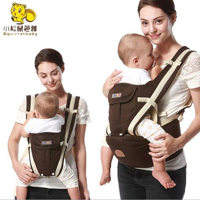 Слинг кенгуру Дышащий с хлопком капюшоном малыш кенгуру рюкзак для переноски hipseat baby care Деятельность Передач продукта 0-36 М