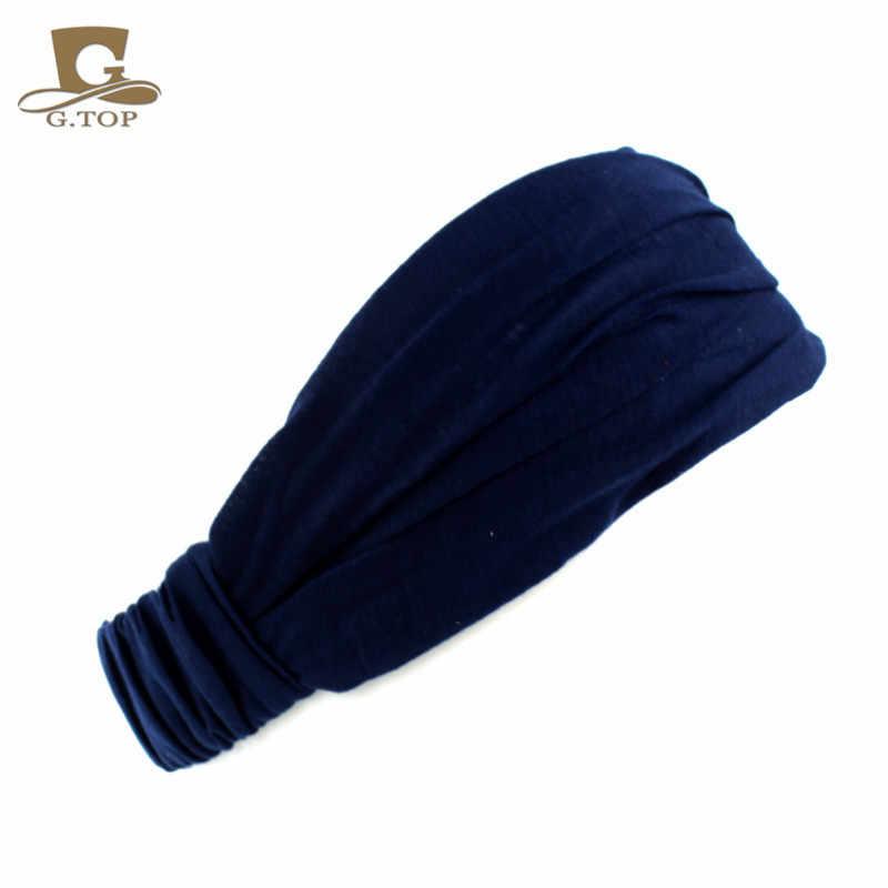 Wanita Kapas Ikat Rambut Kepala Band Ikat Kepala Membungkus Leher Kepala Topi Syal 2 In 1 Bandana