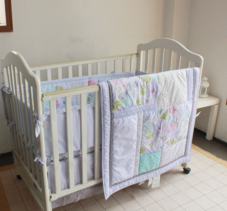 Promotion! 4PCS embroidery cotton baby crib bedding sets cute cartoon toddler ,include(bumper+duvet+bed cover+bed skirt) бытовая химия wellery гель для стирки черных тканей 5000 мл