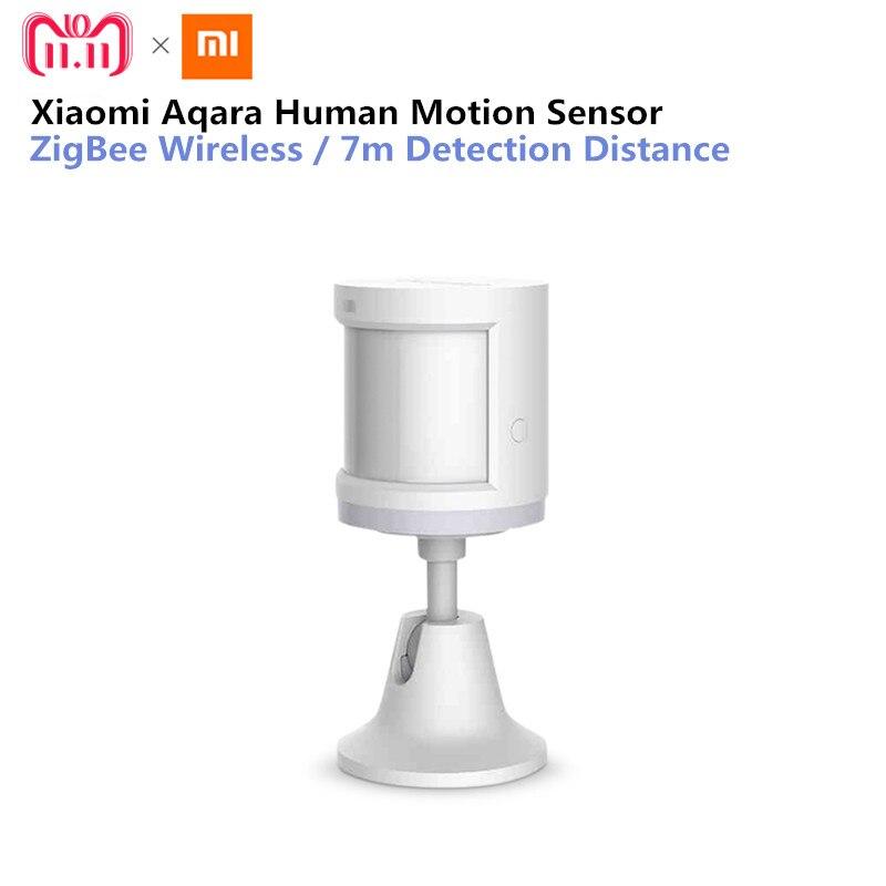 Original Xiaomi Aqara Smart Home Sensor de cuerpo humano Dispositivo de seguridad con soporte de detección de intensidad de luz