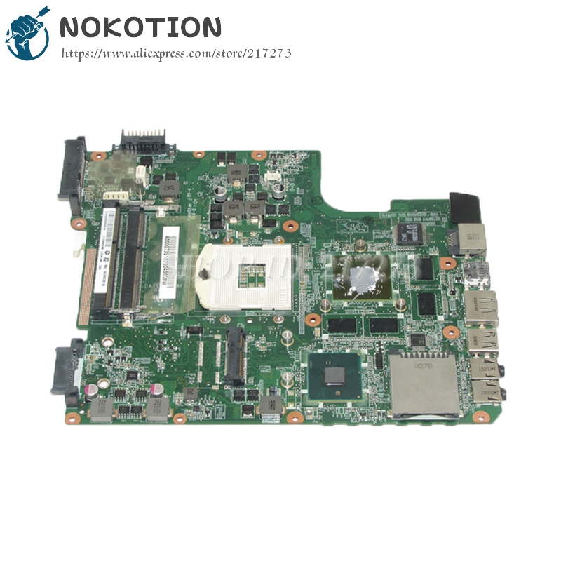 NOKOTION DATE2DMB8F0 A000073510 MAIN BOARD For Toshiba satellite L645 L640 Laptop motherboard HM55 DDR3 HD5650 1GB nokotion genuine h000064160 main board for toshiba satellite nb15 nb15t laptop motherboard n2810 cpu ddr3