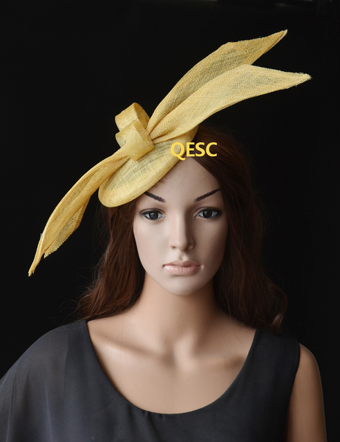 NEW Design Champagne gold sinamay fascinator with sinamay loops for Tea  Garden party Royal Races Kentucky ddcd1729cb00