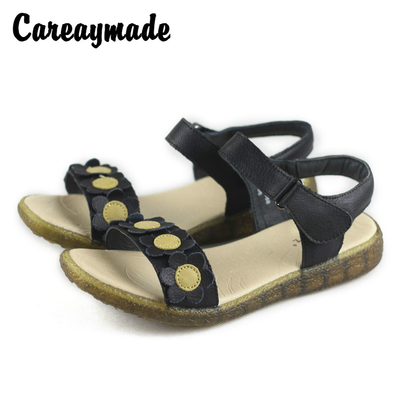 Careaymade-2018 new type of soft genuine leather bottomed toe sandals,pure handemade Sen female literary and artistic sandals