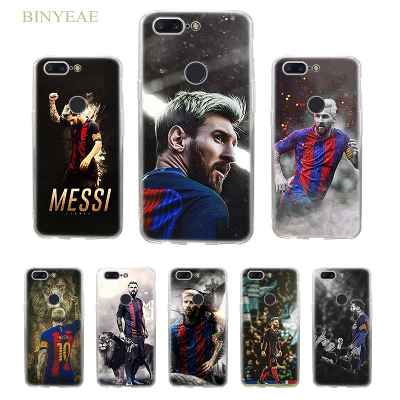 BINYEAE Lionel Messi Soccer player Transparent soft shell TPU case cover for Oneplus 5T Oneplus 6