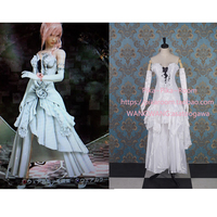 2016 Final Fantasy XIII Lightning Cosplay Costume White Cosplay Dress