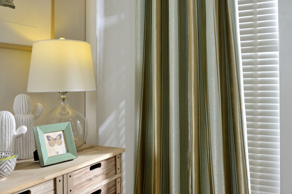 Slow soul leisure striped jacquard curtains for bedroom modern