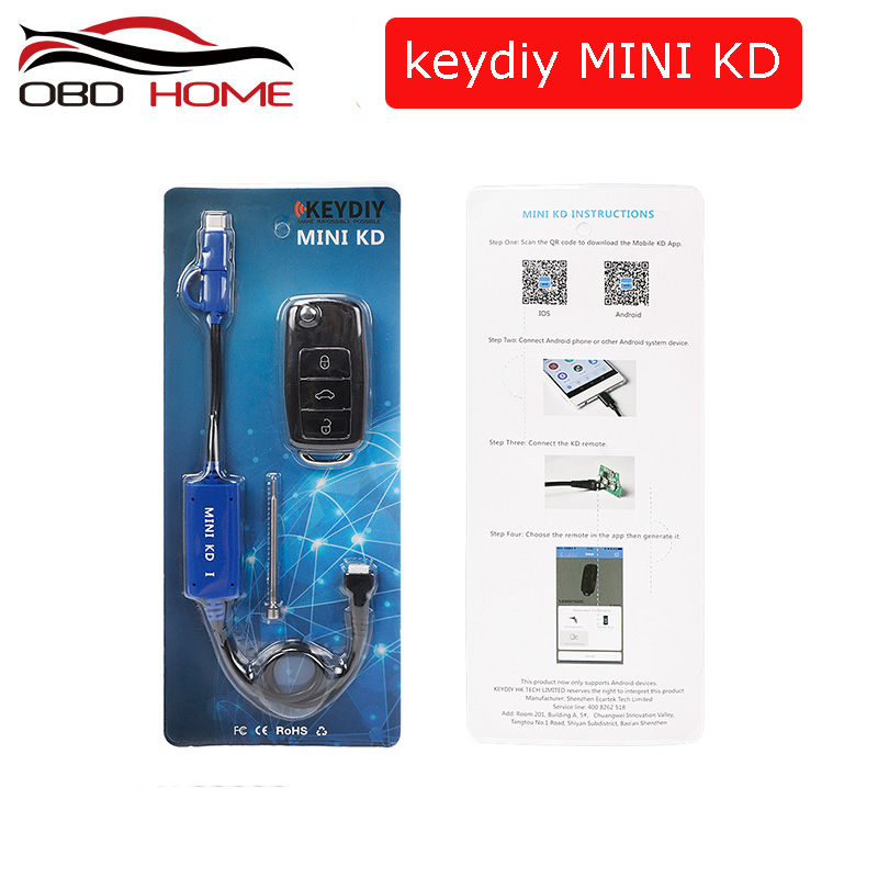 KEYDIY-Mini tecla KD generador de mandos a distancia para coche, almacén en su teléfono, compatible con Android, más de 1000 mandos a distancia automáticos similares a KD900