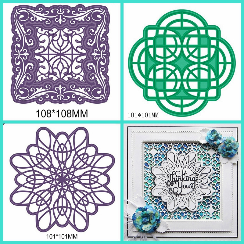quot Mixed Classical Lace Frame quot DIY Cutting Die Handicraft Embossing Stencil Decoration Stencil Scrapbooking Card Photo Making in Cutting Dies from Home amp Garden