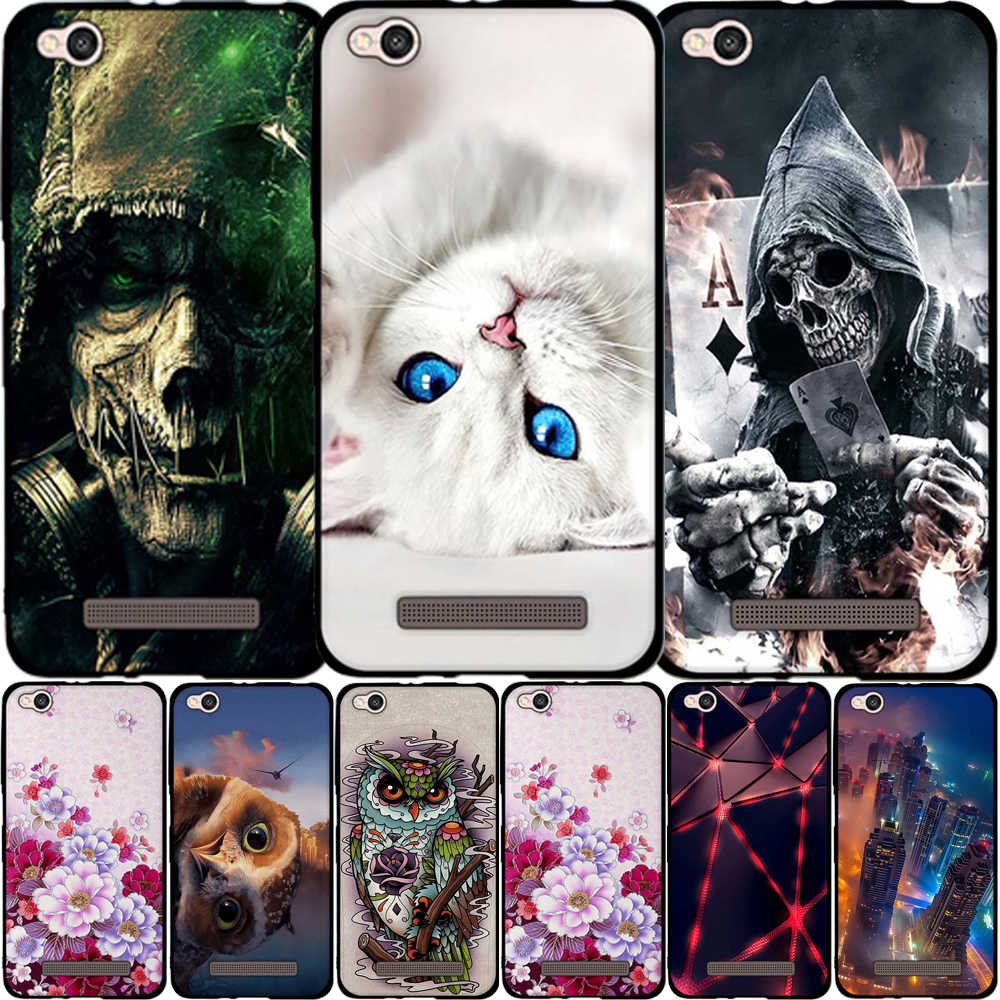 Fundas For Xiaomi Redmi 4A Case Soft TPU Silicone Flower 3D Painting Phone Cases For Xiaomi Redmi 4A Redmi4A 5.0 inch Case Cover
